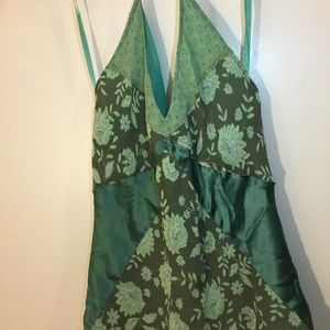 Express Women Silk Strap Top Cami Floral Size 9/10